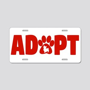 Cute Pets Paw Cat Dog Adopt Aluminum License Plate