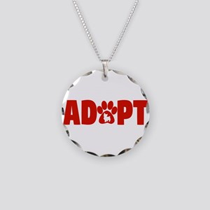 Cute Pets Paw Cat Dog Adopt Necklace Circle Charm