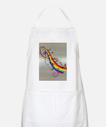 Mixed color musical notes 2 Apron