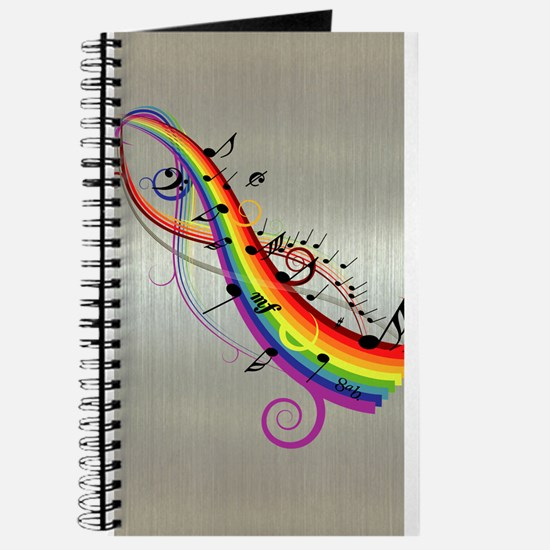 Mixed color musical notes 2 Journal