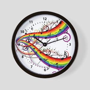 Mixed Musical Notes (color) Wall Clock