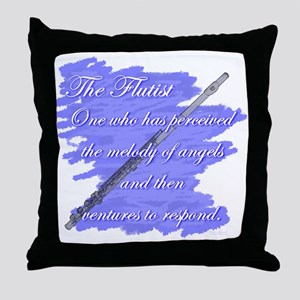 Flutist Verse Throw Pillow