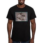 Bunny Coat Men's Fitted T-Shirt (dark)