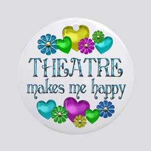 Theatre Happiness Ornament (Round)