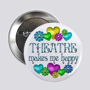 """Theatre Happiness 2.25"""" Button"""