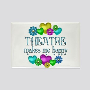 Theatre Happiness Rectangle Magnet