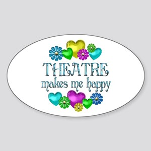 Theatre Happiness Sticker (Oval)