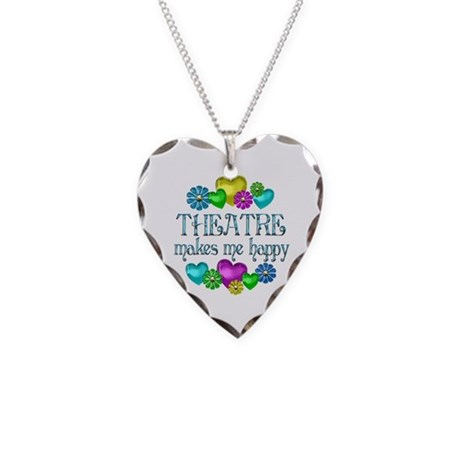 Theatre Happiness Necklace Heart Charm