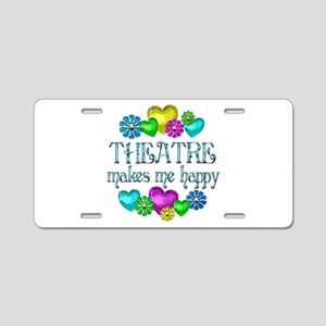 Theatre Happiness Aluminum License Plate