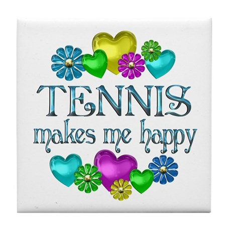 Tennis Happiness Tile Coaster