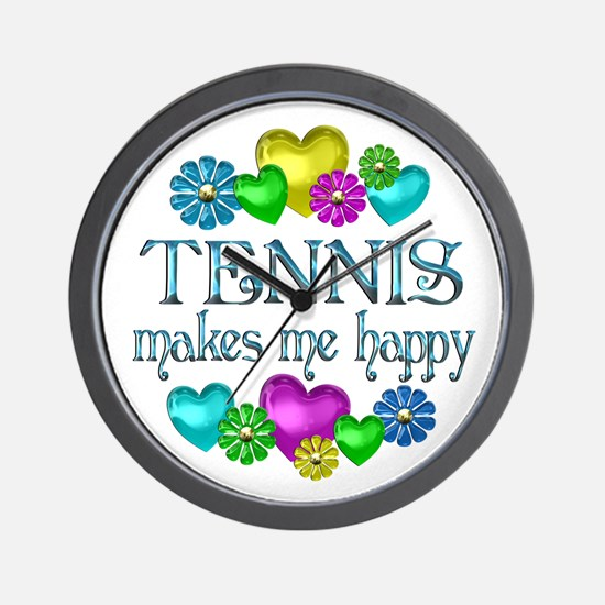 Tennis Happiness Wall Clock