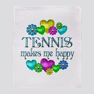 Tennis Happiness Throw Blanket
