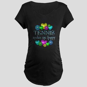 Tennis Happiness Maternity Dark T-Shirt