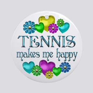 Tennis Happiness Ornament (Round)