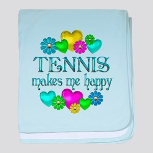 Tennis Happiness baby blanket