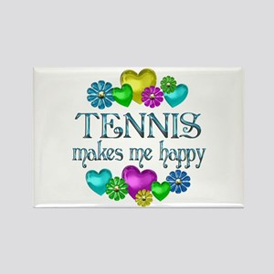 Tennis Happiness Rectangle Magnet