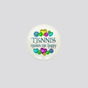 Tennis Happiness Mini Button