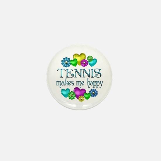 Tennis Happiness Mini Button