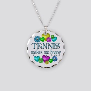 Tennis Happiness Necklace Circle Charm
