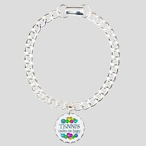 Tennis Happiness Charm Bracelet, One Charm