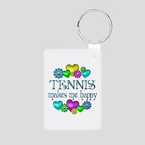 Tennis Happiness Aluminum Photo Keychain