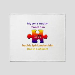 1 in Million (Son w Autism) Throw Blanket