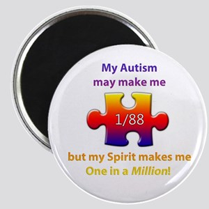 "1 in Million (Self w Autism) 2.25"" Magnet"