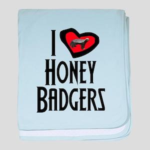 I Love Honey Badgers baby blanket