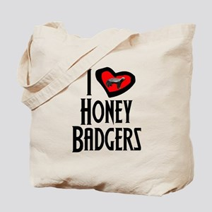 I Love Honey Badgers Tote Bag