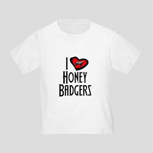 I Love Honey Badgers Toddler T-Shirt