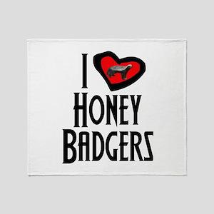 I Love Honey Badgers Throw Blanket