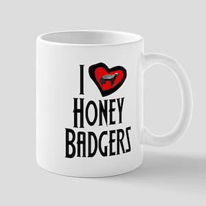 I Love Honey Badgers Mug