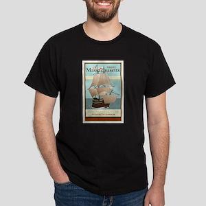 Travel Massachusetts Dark T-Shirt
