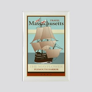 Travel Massachusetts Rectangle Magnet
