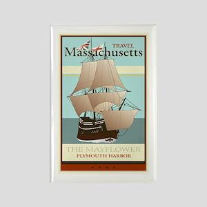 Travel Massachusetts Rectangle Magnet