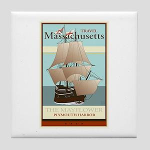 Travel Massachusetts Tile Coaster