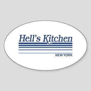 Hell's Kitchen New York Oval Sticker