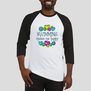 Swimming Happiness Baseball Jersey