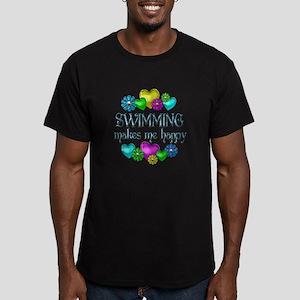 Swimming Happiness Men's Fitted T-Shirt (dark)