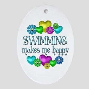 Swimming Happiness Ornament (Oval)