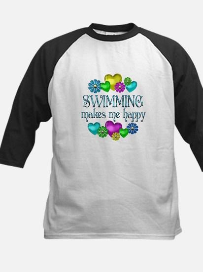 Swimming Happiness Kids Baseball Jersey