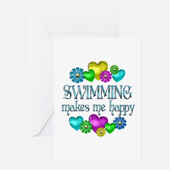 Swimming Happiness Greeting Card