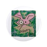 "Bunny 3.5"" Button (100 pack)"