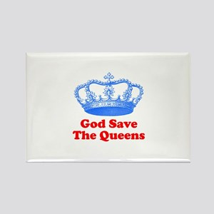 god save the queens (royal bl Rectangle Magnet