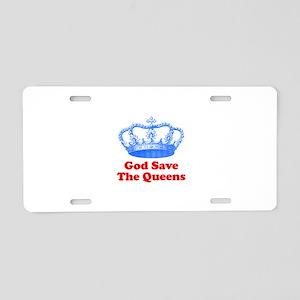 god save the queens (royal bl Aluminum License Pla