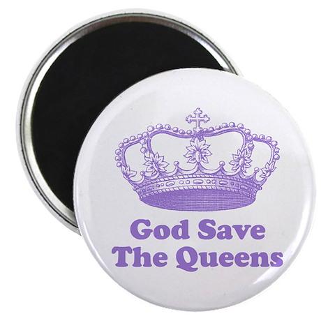 god save the queens (mauve) Magnet