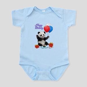 Panda's Happy Birthday Wish Body Suit