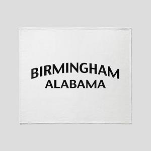 Birmingham Alabama Throw Blanket