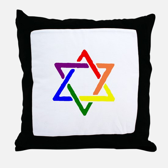 Queer Jews Throw Pillow