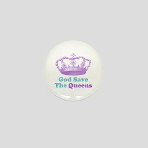 god save the queens (purple/t Mini Button